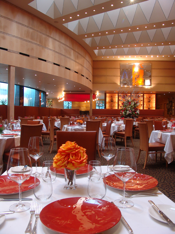 The main dining room at Tony's before lunch service