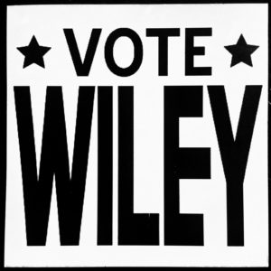 Wiley's fake campaign sign