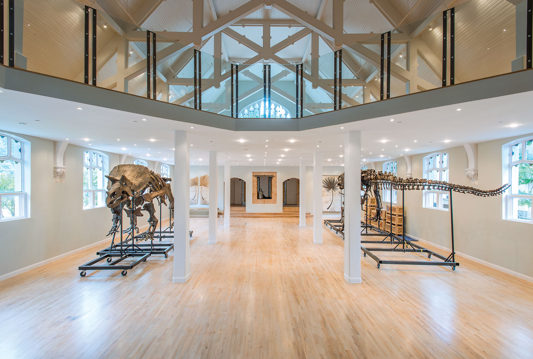 This renovated 1910 church is home to a T. rex and friends.
