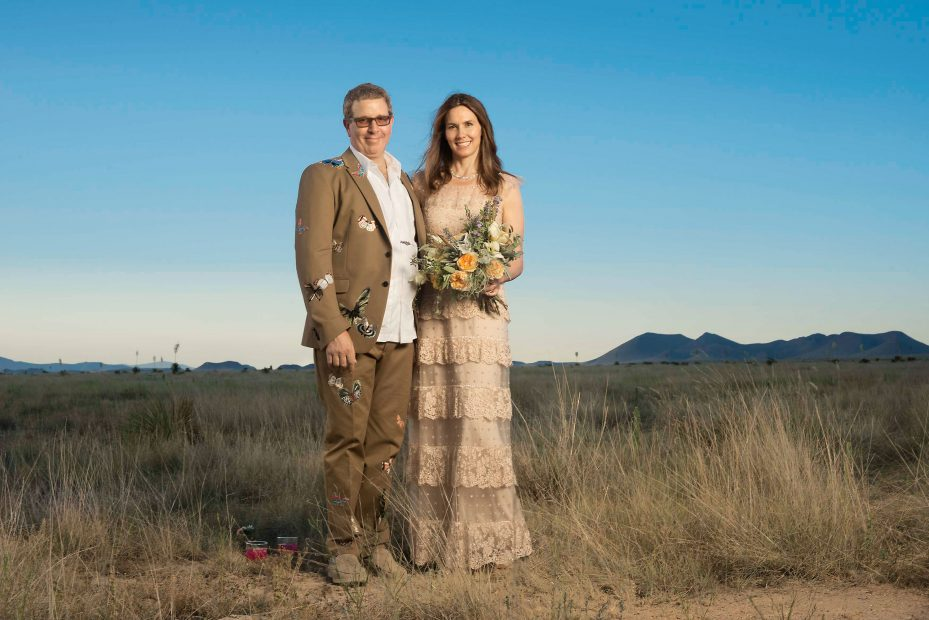 Marc Glimcher and Fairfax Dorn wed at Catto-Gage Ranch in Marfa.