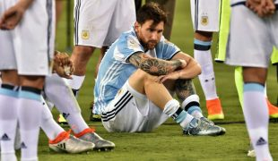 Lionel Messi almost couldn't move after Argentina lost to Chile.