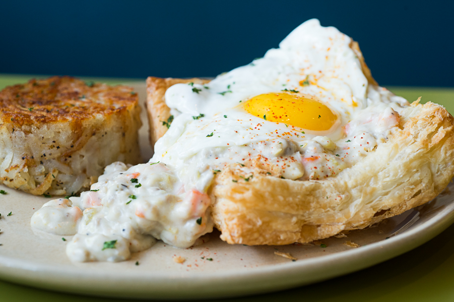 The breakfast pot pie is a Snooze signature. (Photo by Ashley Davis Photography)