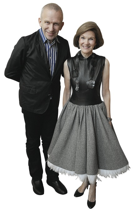Jean Paul Gaultier (here with Deedie Rose) had an exhibition at the Dallas Museum of Art in 2012.