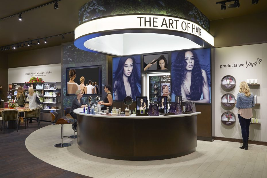Aveda's NorthPark store has a shiny new look.