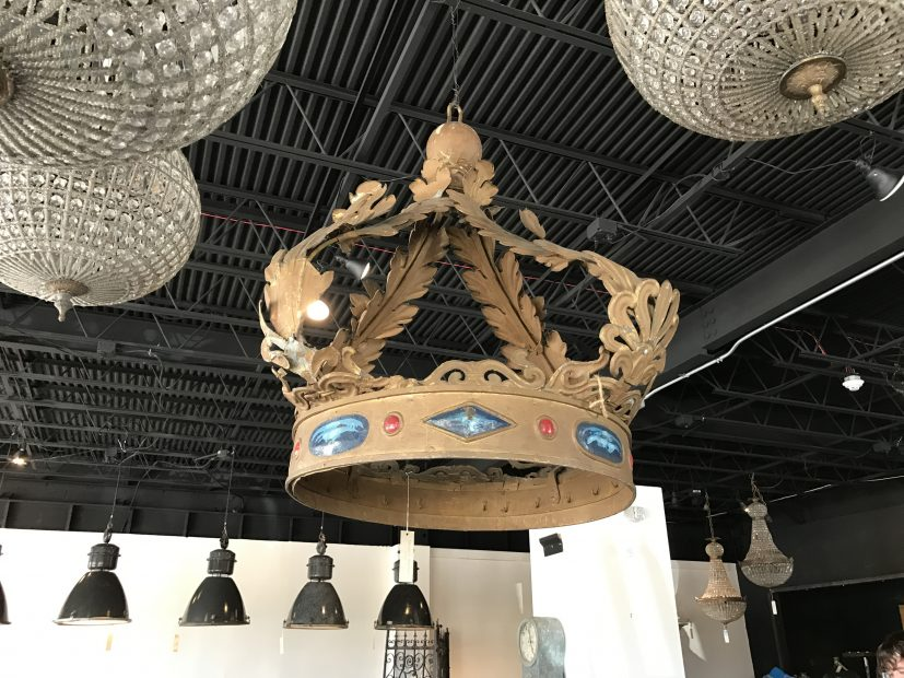 Georgia Brown Home also carries a number of one-of-a-kind movie props. Giant Set Crown, $7,800.