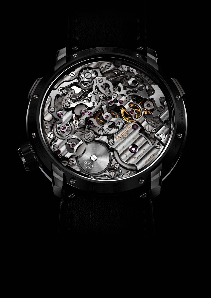 The back of the Fabergé Visionnaire Chronograph Black