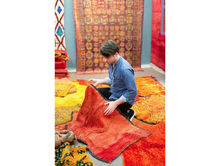 Matt Johns shopping for rugs in Marrakech