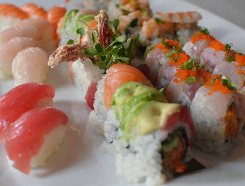 Cant pick just one? Go for an assortment of sushi rolls at The Fish's happy hour.