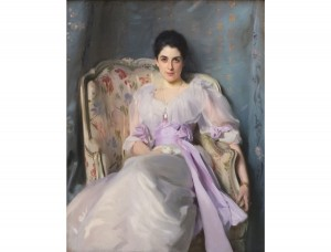 "John Singer Sargent's ""Lady Agnew of Lochnaw,"" (circa 1892), at the Kimbell Art Museum."