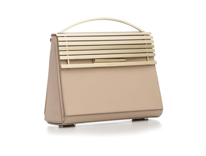 Eddie Borgo Colt satchel in blush with blonde hardware