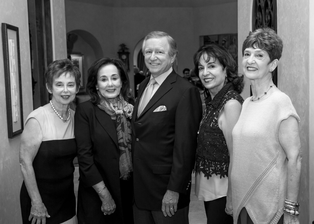Art of Conversation co-chair Evelyn Leightman, Betty and Jesse Tutor, CA Scene Chair Mady Kades, Joyce Lott