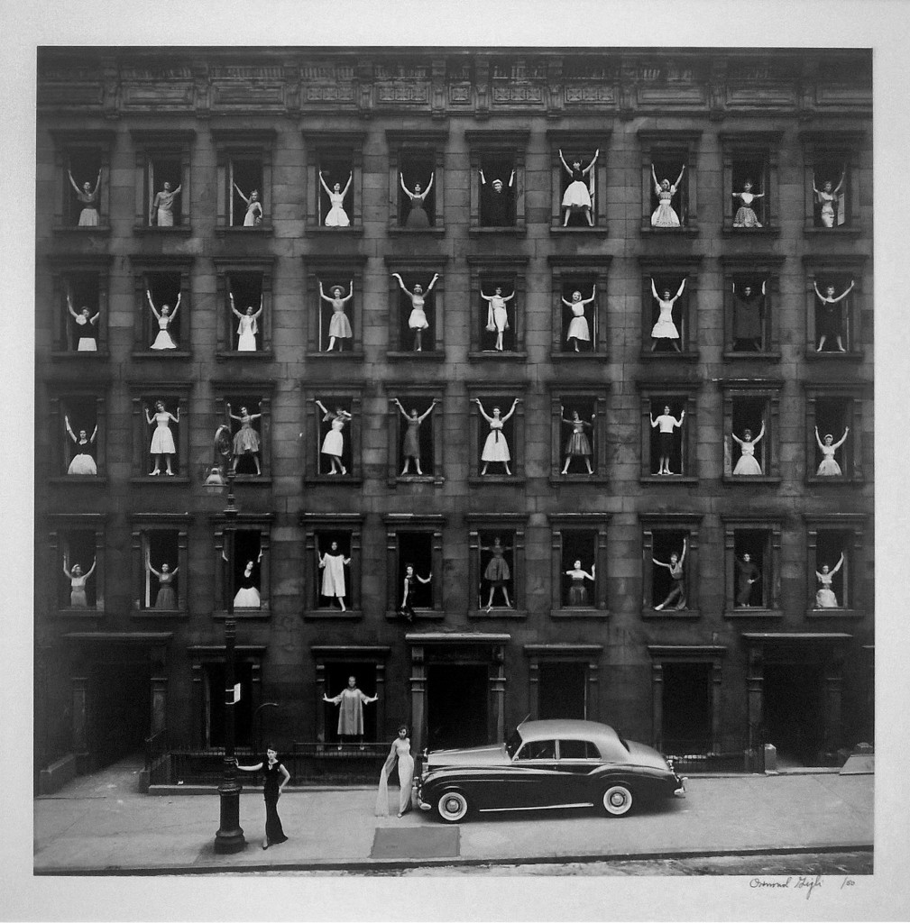 Ormond Gigli, Girls in the Windows, 1950. Photograph. Est. $12,000-$18,000. Courtesy Paddle8.