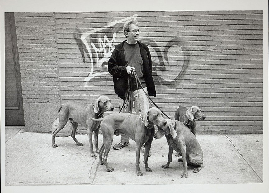 William Wegman with his celebrated Weimaraners, circa 2006.