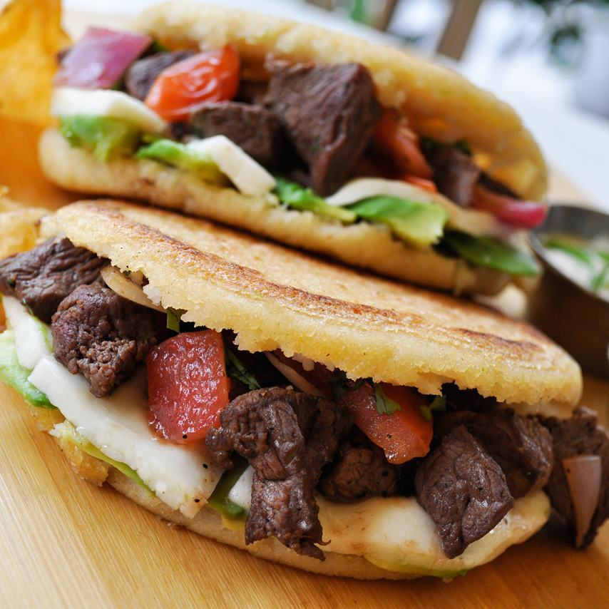 Grab an arepa from Latin Bites.