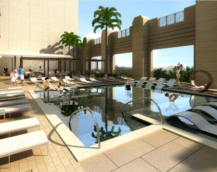 Market Square Tower will boast two pools — and two full levels of amenities.