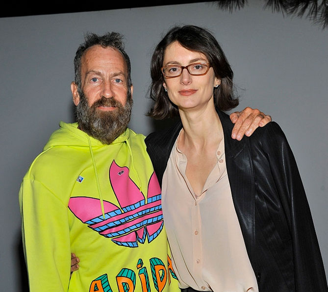 Kenny Scharf and Honor Fraser at a private art dinner in L.A. hosted by the Hammer Museum. Scharf is among the stars of Fraser's stable. (Photo Getty Images)