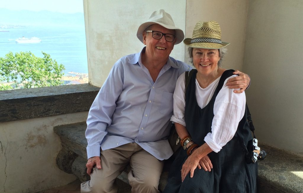 Mary Margaret Hansen and Earl Staley enjoying a lovely day at San Martino.