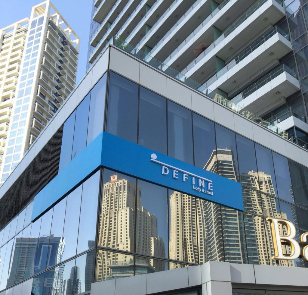 Define opens its first international location in Dubai.