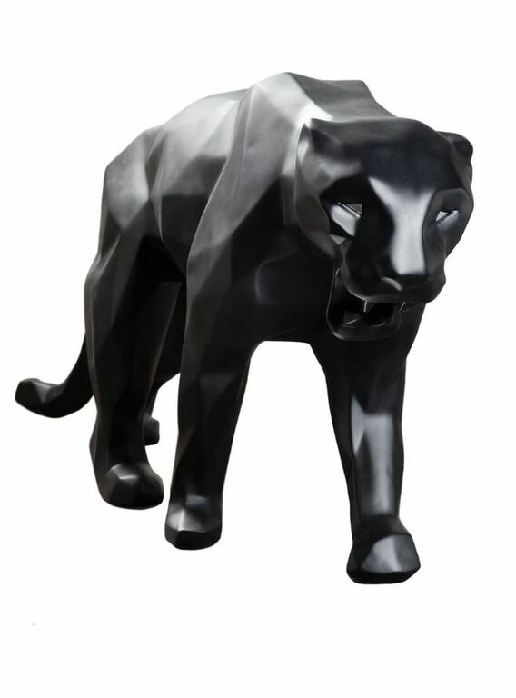 "French sculptor Richard Orlinski's ""Black Panther,"" alludes to an Art Deco influence. Orlinski's work will appear in the France Pavilion."