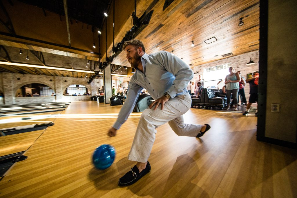 Welcome to Bowl & Barrel, a boutique bowling and restaurant experience in CityCentre.