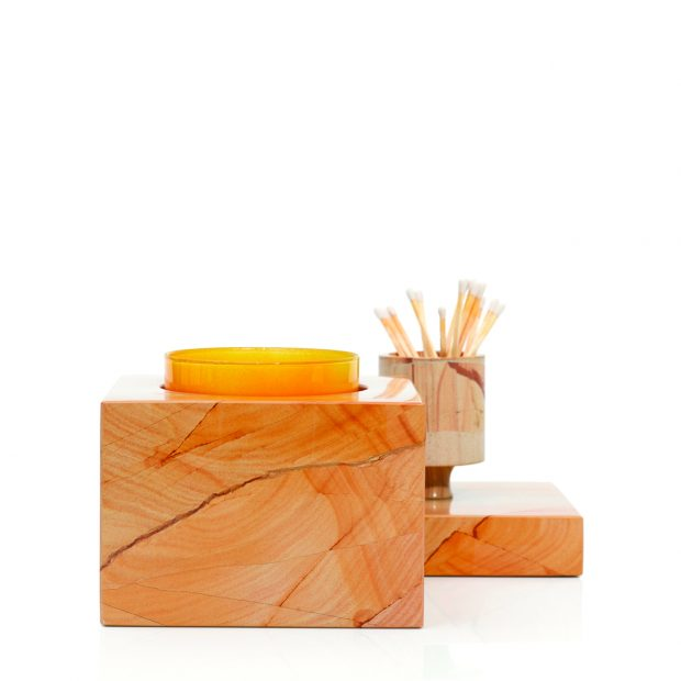 Teakwood candleholder, $298, at Bell'Invito.