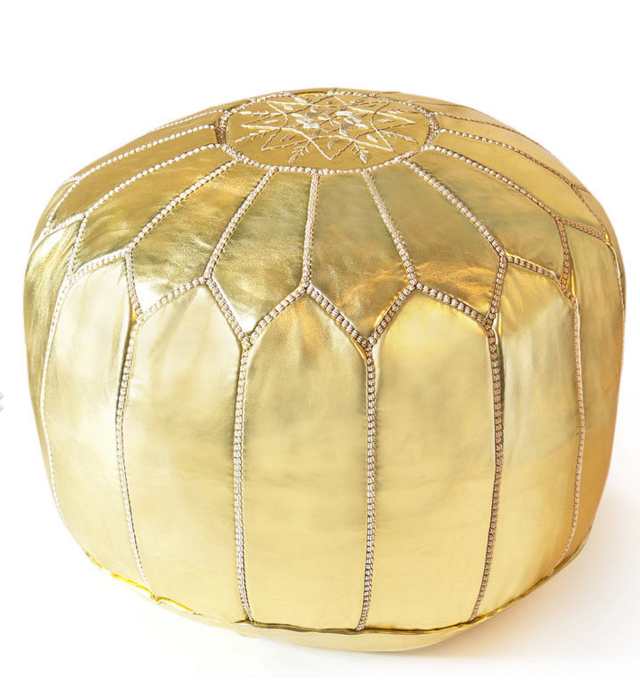 "Need a few extra spots for those last minute surprise guests? No problem...these Moroccan poufs make for the perfect seating solution. $375, at <a href=""http://www.jonathanadler.com/furniture/by-category/benches-and-ottomans/leather-moroccan-pouf/19-5300002.html"">Jonathan Adler. </a>"