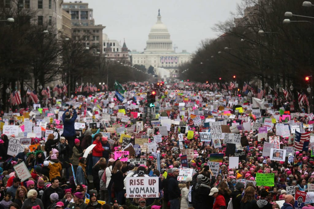More than 500,000 turned out for the Women's March on Washington.
