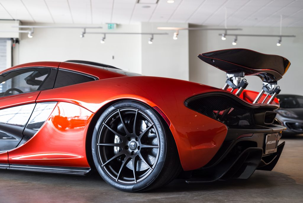 The McLaren P1 commands any garage it enters.