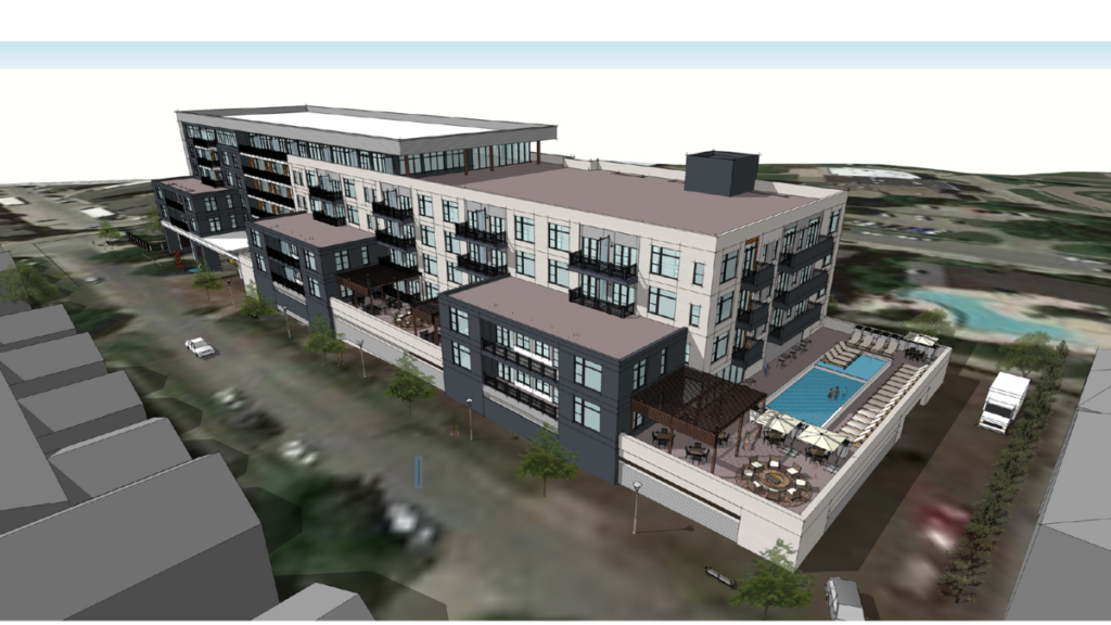 The Drake at White Rock Lake is a new condo building geared around its setting.