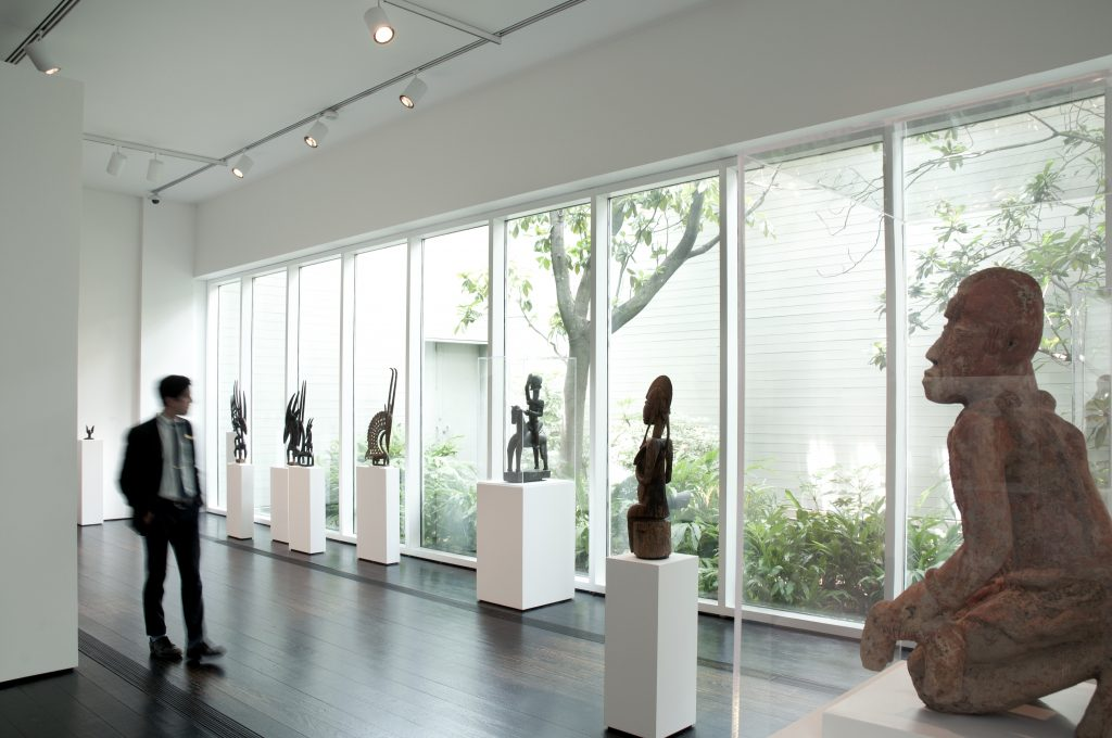 The Menil's African art galleries,  one of four collecting areas of focus