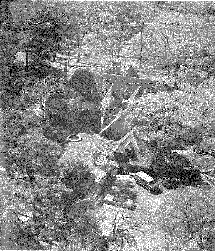 Aerial view of 2945 Lazy Lane, circa 1970s