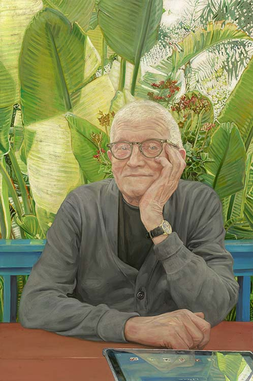"Brenda Zlamany's ""Portrait #138,"" 2014, serves up a likeness of painter David Hockney. (Collection and copyright the artist)"