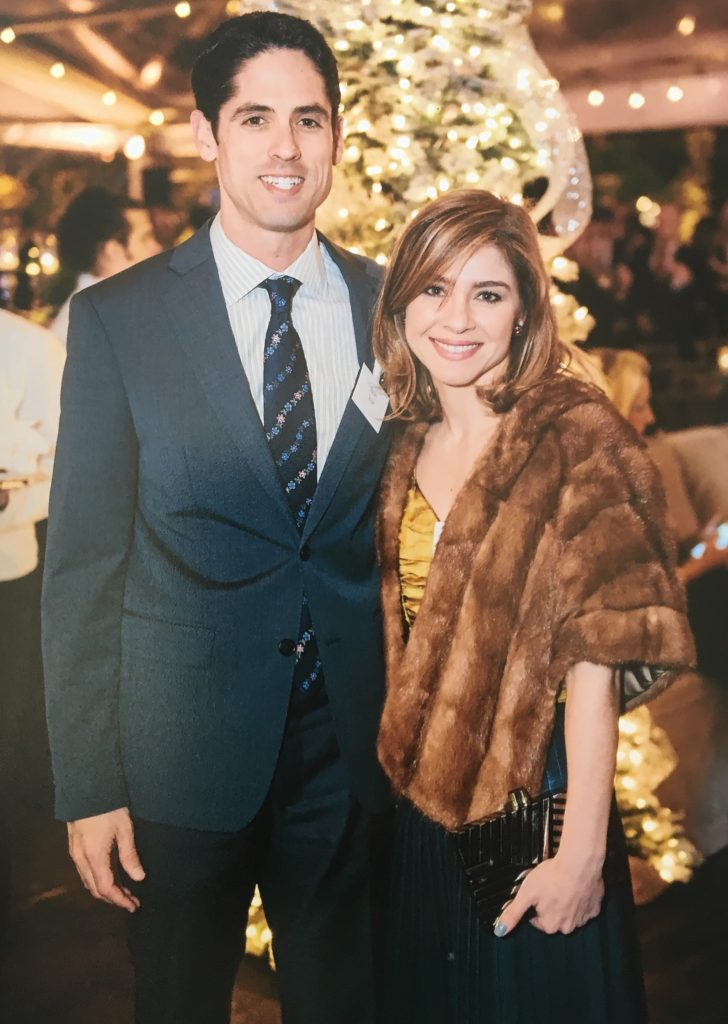 Jason and Rachael Volz on the town at the Ambassadors for Texas Children's Hospital Holiday Party