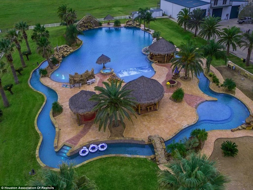 Texas mansion with the largest backyard swimming pool in for Pool design el paso tx