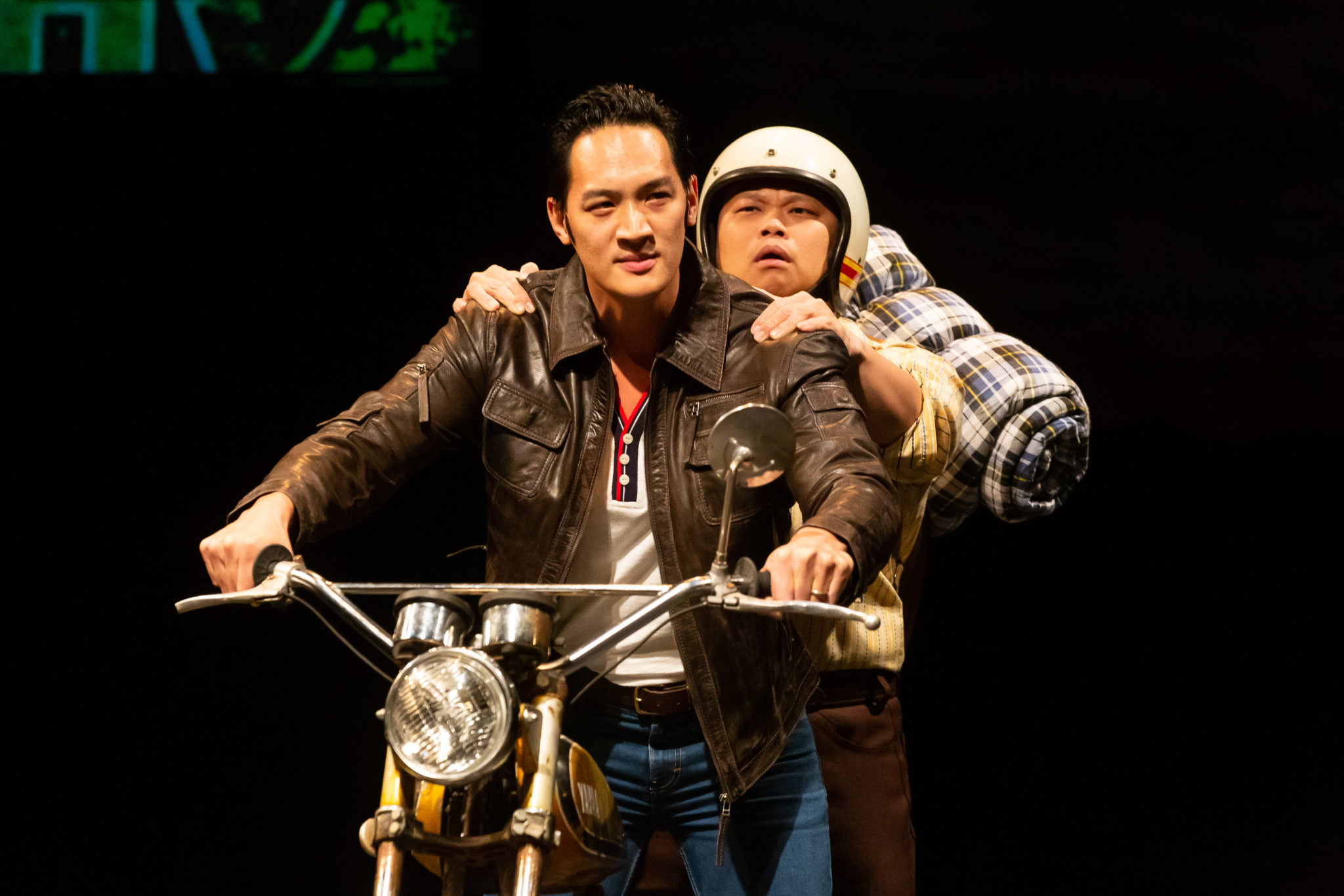 Alley Theatre – Vietgone: Edward Chin-Lyn as Quang and Viet Vo (Photo by Lynn Lane)